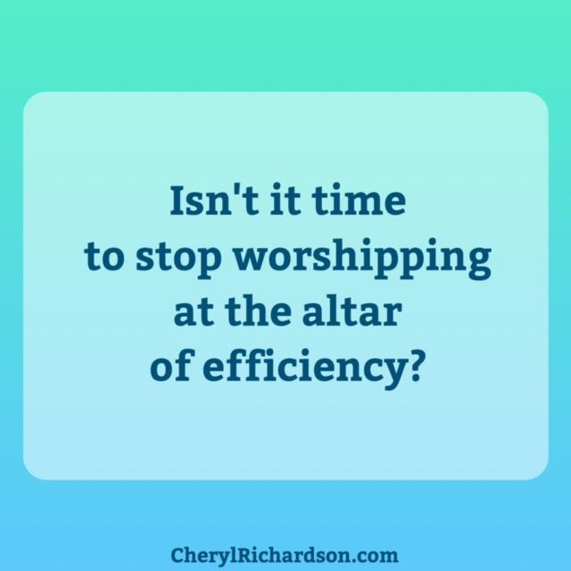 altar of efficiency