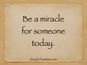 be a miracle for someone