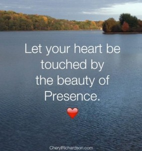 let your heart be touched by beauty