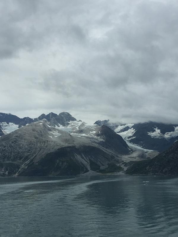 mountains, ice, sea